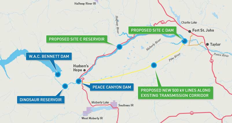 Site C Dam Approved By BC Government