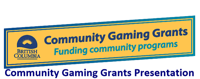 Community Gaming Grants Presentation - September 19, 2017